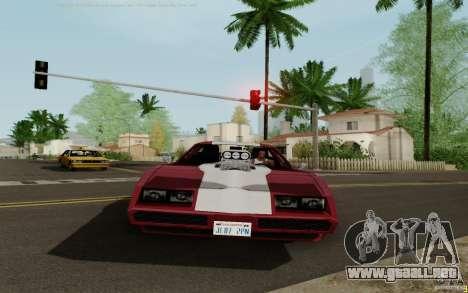 Phoenix HD para GTA San Andreas vista posterior izquierda