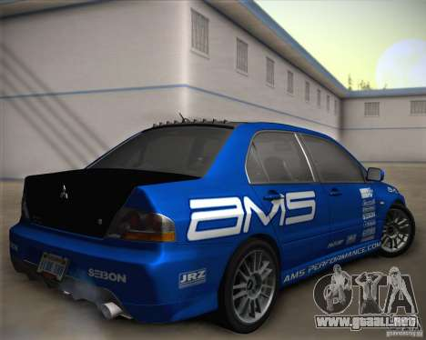 Mitsubishi Lancer Evolution IX Tunable para el motor de GTA San Andreas