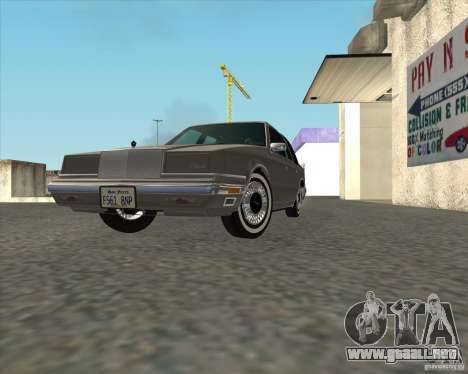 Chrysler New Yorker 1988 para GTA San Andreas vista hacia atrás
