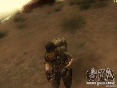 Frank Woods para GTA San Andreas sucesivamente de pantalla