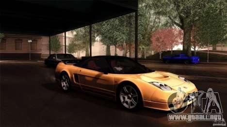 Honda NSX-R 2005 para visión interna GTA San Andreas
