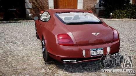 Bentley Continental SS v2.1 para GTA 4 Vista posterior izquierda