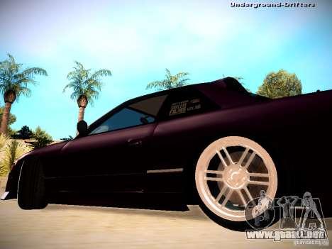 Nissan Silvia S13 Tandem Of DIE para GTA San Andreas vista posterior izquierda