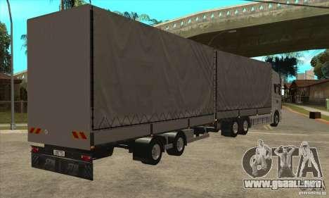 Scania R620 V8 para la visión correcta GTA San Andreas