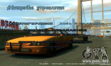 Menú al estilo de GTA 4 para GTA San Andreas sucesivamente de pantalla