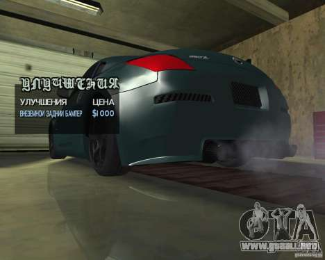Nissan 350Z Tunable para vista lateral GTA San Andreas
