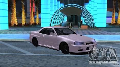 Nissan Skyline GTR-34 M-spec Nur para GTA San Andreas