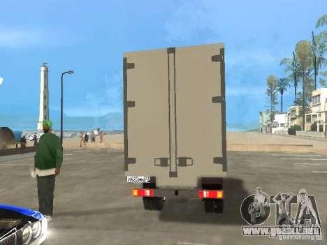 Gacela 33022 para GTA San Andreas vista hacia atrás