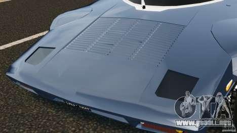 Lancia Stratos v1.1 para GTA 4 vista interior