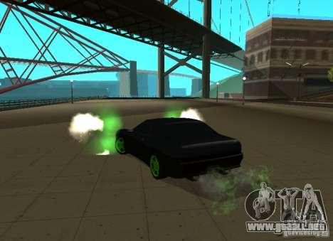 Elegy Green Drift para GTA San Andreas vista posterior izquierda