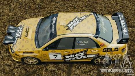Subaru Impreza WRX STI N12 para GTA 4 visión correcta