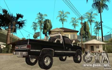GMC Sierra 1986 FBI para la visión correcta GTA San Andreas