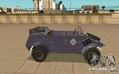 Kuebelwagen v2.0 normal para GTA San Andreas left
