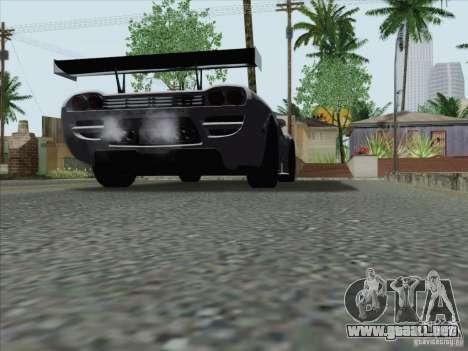Saleen S7 Twin Turbo Competition Custom para GTA San Andreas vista posterior izquierda