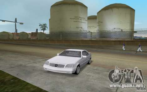Mercedes-Benz 600SEC (C140) 1992 para GTA Vice City vista lateral izquierdo