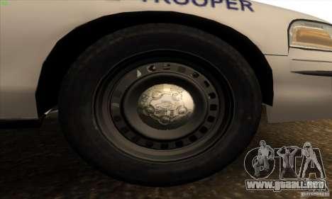 Ford Crown Victoria Arkansas Police para visión interna GTA San Andreas