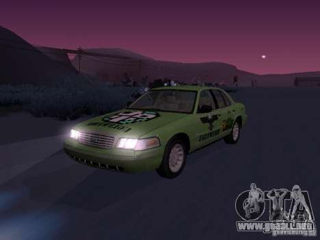 Ford Crown Victoria para la vista superior GTA San Andreas