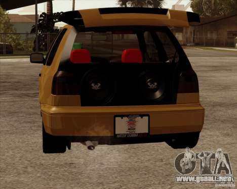 VW Golf MK 4 low & slow para la visión correcta GTA San Andreas
