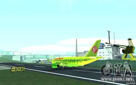 Airbus A310 S7 Airlines para GTA San Andreas vista hacia atrás