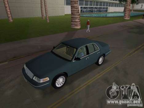 Ford Crown Victoria para GTA Vice City vista interior