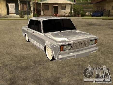 VAZ 2107 Convertible para GTA San Andreas vista posterior izquierda