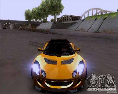 Lotus Exige para la vista superior GTA San Andreas