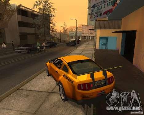 Ford Mustang GT-R 2010 para GTA San Andreas vista posterior izquierda