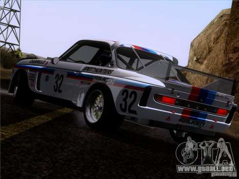 BMW CSL GR4 para vista inferior GTA San Andreas