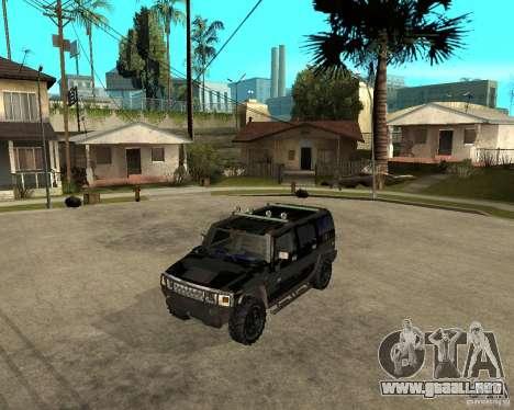 FBI Hummer H2 para GTA San Andreas vista posterior izquierda
