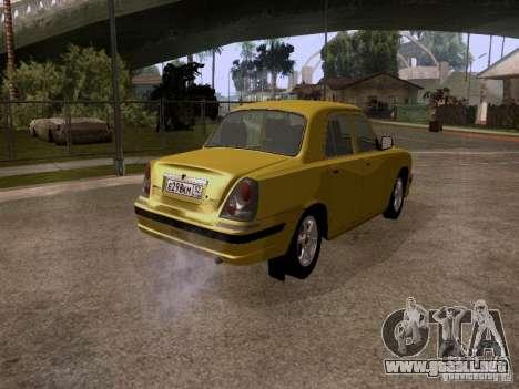 Volga GAZ 31107 para GTA San Andreas vista posterior izquierda