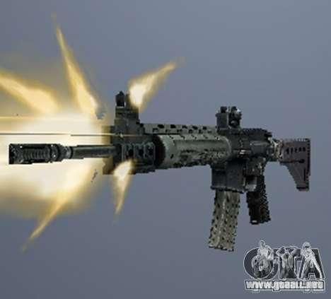 Un conjunto de armas de acosador V3 para GTA San Andreas segunda pantalla