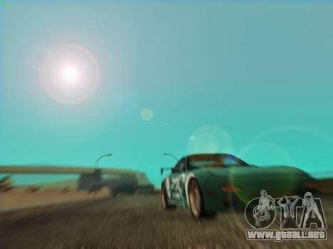 Mazda RX7 rEACT para GTA San Andreas vista hacia atrás