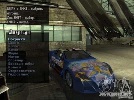 Lexus LFA Custom para vista lateral GTA San Andreas