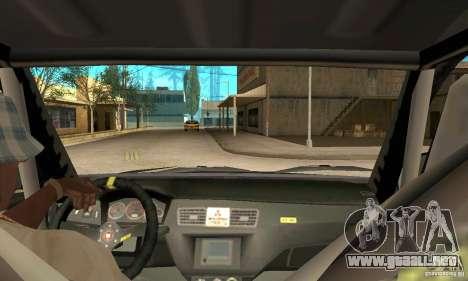 Mitsubishi Lancer Evolution IX para GTA San Andreas vista hacia atrás