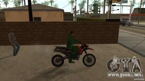 Motocicleta Mirabal para GTA San Andreas vista posterior izquierda