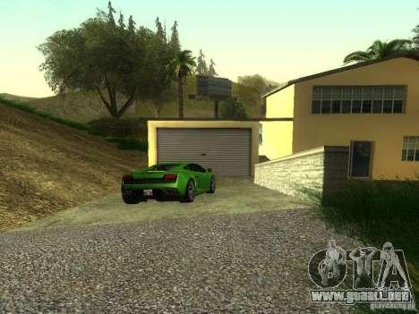 Coches caros en la exclusiva zona de Los Santos para GTA San Andreas segunda pantalla