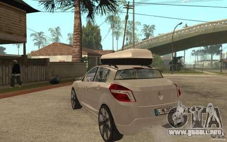 Renault Megane III para GTA San Andreas vista posterior izquierda
