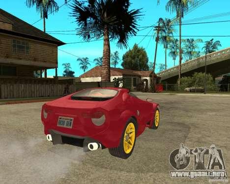 Lancia Stratos Fenomenon para GTA San Andreas vista posterior izquierda
