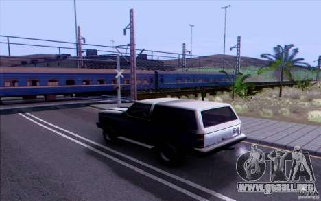TREN ruso versión v1.0 para GTA San Andreas tercera pantalla