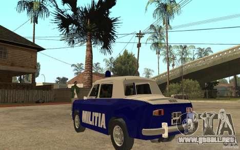 Dacia 1100 Militie para GTA San Andreas vista posterior izquierda
