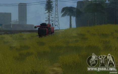 Vegetación perfecta v. 2 para GTA San Andreas sucesivamente de pantalla