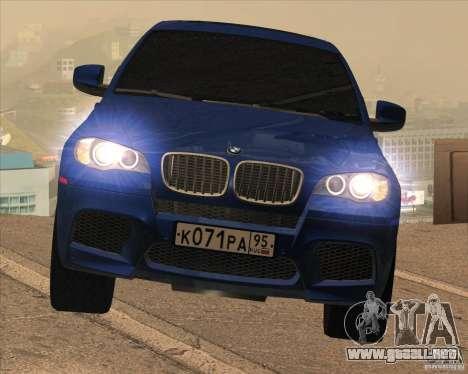 BMW X6 M E71 para visión interna GTA San Andreas