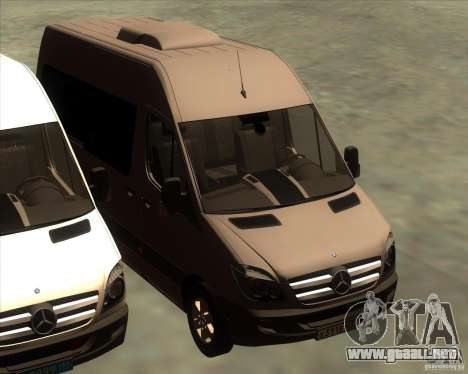 Mercedes-Benz Sprinter 311CDi para vista inferior GTA San Andreas
