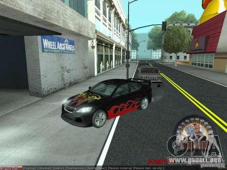 Lexus IS300 para GTA San Andreas left