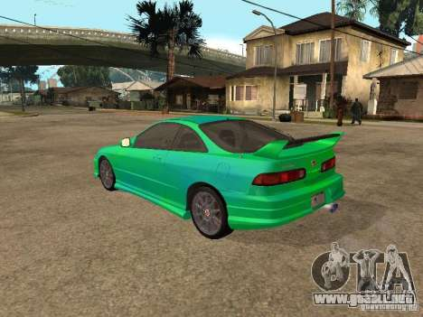 Honda Integra 2000 para vista inferior GTA San Andreas
