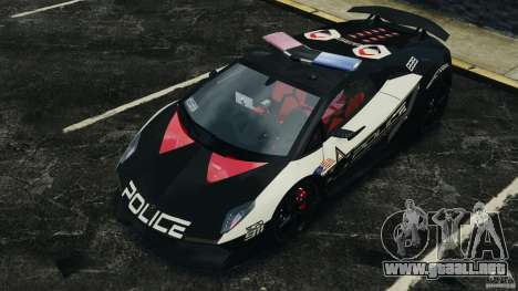 Lamborghini Sesto Elemento 2011 Police v1.0 ELS para GTA 4 ruedas