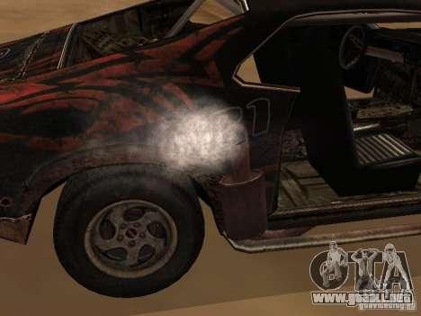 Car from FlatOut 2 para GTA San Andreas vista posterior izquierda