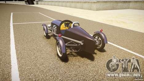 Vintage race car para GTA 4 Vista posterior izquierda