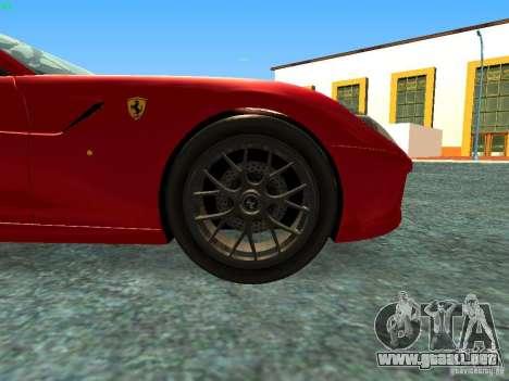 Ferrari 599 GTB para la visión correcta GTA San Andreas