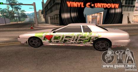 Paintjob for Elegy para la visión correcta GTA San Andreas